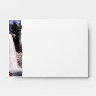 Ozone Falls Waterfall Photography Rainbow Envelopes