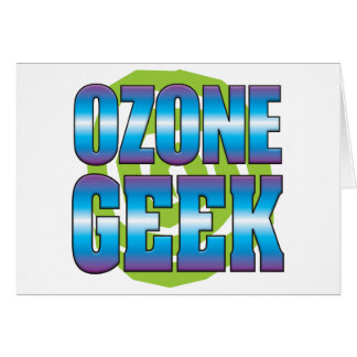 Ozone Geek v3 Greeting Cards