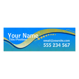 OZTRALiANA Skinny Profile Business Card Templates