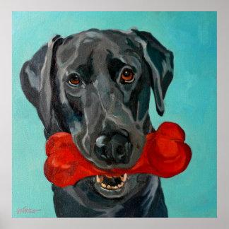 Ozzie the Black Labrador Art Print