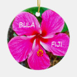 P0000104_lzn, bula, Fiji Adorno Navideño Redondo De Cerámica