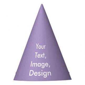 P01 Purple Color Party Hat