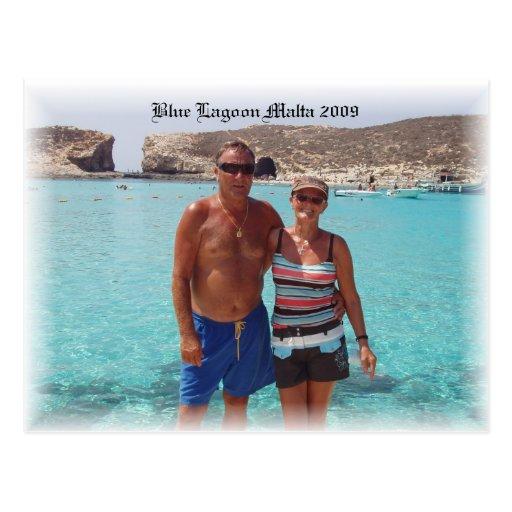 P1010243, laguna azul Malta 2009 Tarjetas Postales