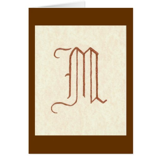 P180 OLD ENGLISH LETTER M Card