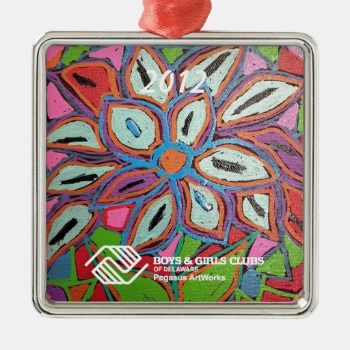P1 Floral Impression Dated Ornament