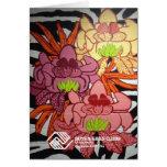 P2 Floral Zebra Mural- Card