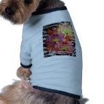 P2 Floral Zebra Mural Dog T Shirt