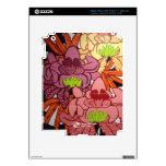 P2 Floral Zebra Mural Skins For iPad 3