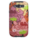 P2 Floral Zebra Phone Cover Samsung Galaxy SIII Cases
