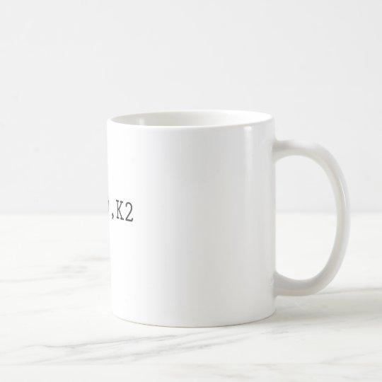 P2, YO, K2 COFFEE MUG