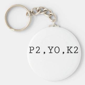 P2, YO, K2 LLAVERO REDONDO TIPO PIN