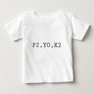 P2, YO, K2 PLAYERA DE BEBÉ