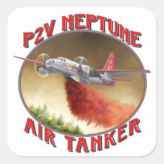 P2V Neptuno Airtanker Pegatinas Cuadradases Personalizadas