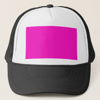 P35 Stunningly Vivacious Pink Color Trucker Hat