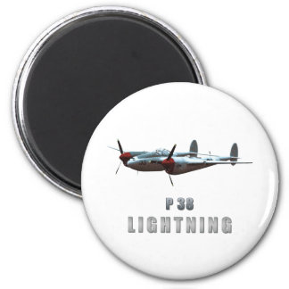 P38 Lightning 2 Inch Round Magnet