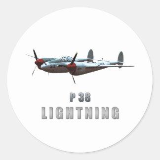 P38 Lightning Classic Round Sticker