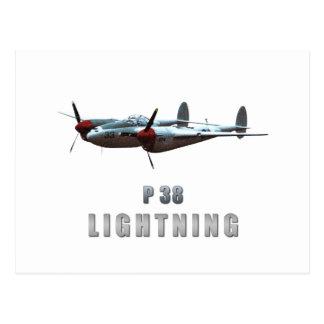 P38 Lightning Postcard