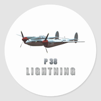 P38 Lightning Round Sticker