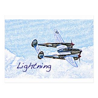p38 Lightning world war 2 combat aircraft Postcard