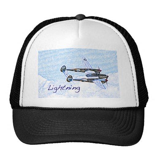 p38 Lightning world war 2 combat aircraft Trucker Hat
