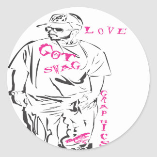 p3 got swag collection LOVE Classic Round Sticker