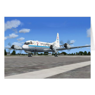 P3 Orion NOAA Weather Plane Greeting Card