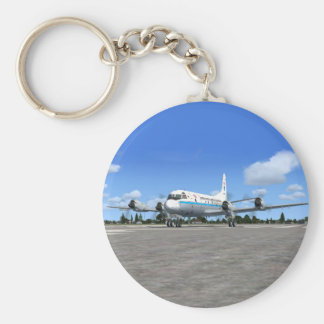 P3 Orion NOAA Weather Plane Keychain
