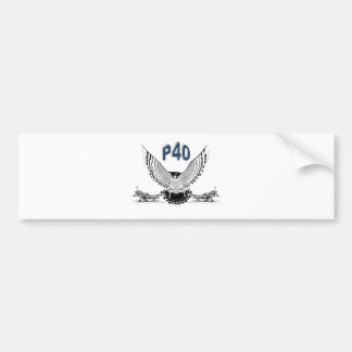 P40 FIGHTER BOMBER BUMPER STICKERS