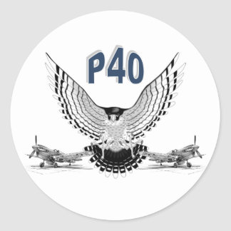 P40 FIGHTER BOMBER ROUND STICKERS