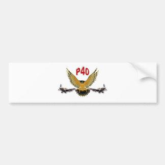 P40 WARHAWK FIGHTER BOMBER BUMPER STICKER