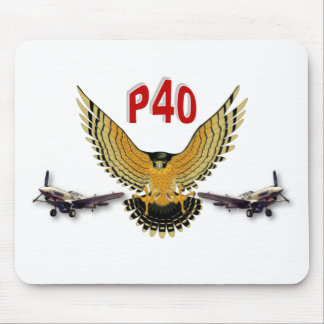 P40 WARHAWK FIGHTER BOMBER MOUSE PAD