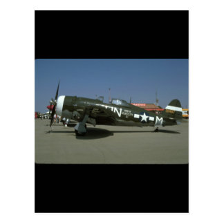 P47, Left View._WWII Planes Postcard