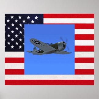 P47 Thunderbolt Fighter Plane Poster