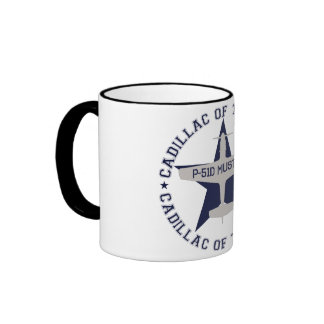 p51 cadillac of the skies taza a dos colores