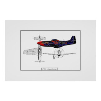 P51 Mustang 01 Posters