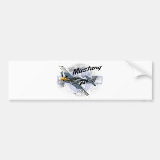 P51 Mustang Bumper Sticker