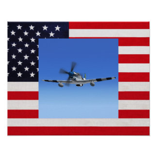 P51 Mustang Fighter Plane Poster