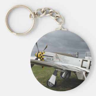 "P51 Mustang ""Ginger Sal"" X Basic Round Button Keychain"