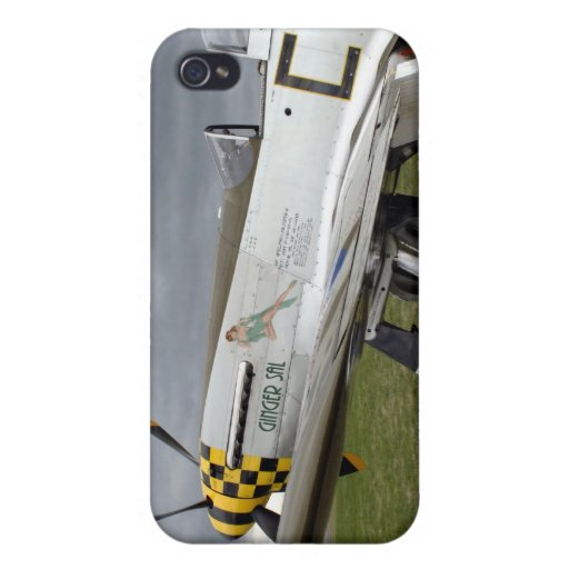 """P51 Mustang """"Ginger Sal"""" X iPhone 4 Cases"""