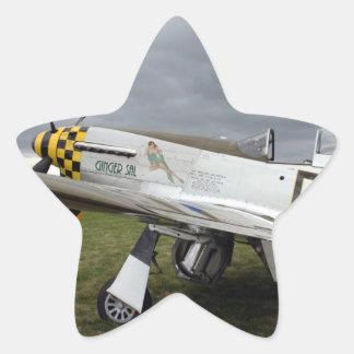 "P51 Mustang ""Ginger Sal"" X Star Sticker"