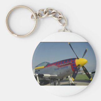 P51 Mustang, nose cone/propeller showing nose art Keychain