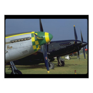 P51 Mustang Noses_WWII Planes Poster