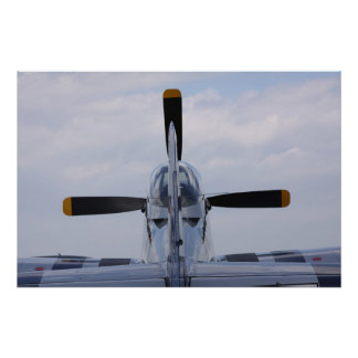 P51 Mustang ready for flight Poster