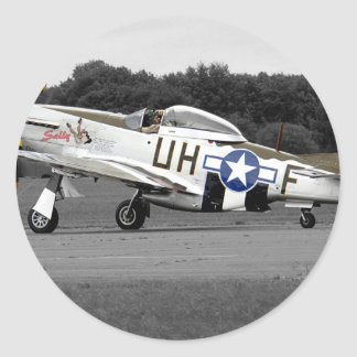 "P51 Mustang ""Sally"" X Retro Classic Round Sticker"