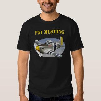 P51 Mustang Silver-Yellow Plane T-Shirt