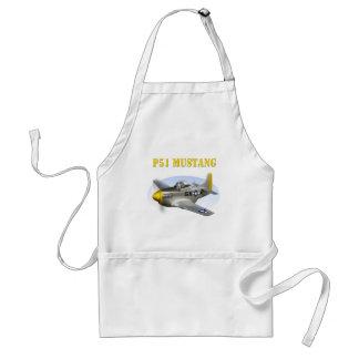 P51 Silver-Yellow Plane Adult Apron