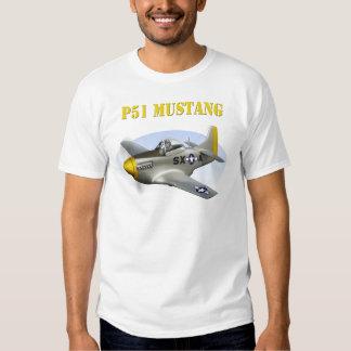 P51 Silver-Yellow Plane T-Shirt