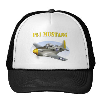 P51 Silver-Yellow Plane Trucker Hat