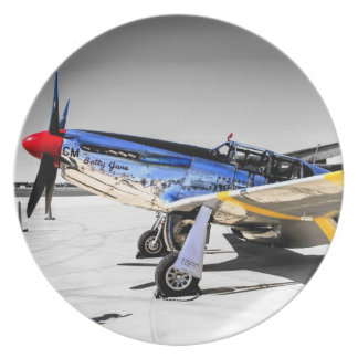 P51C Mustang WWII Fighter Plane Party Plates