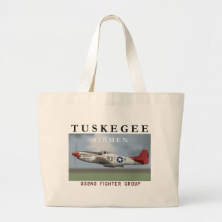 P51D 332nd Fighter Group Large Tote Bag